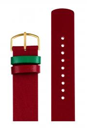 Picto Red Leather Strap 20mm P4320MG